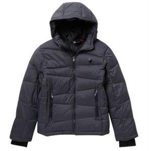 Spyder Nexus Nylon Puffer Jacket Grey Boys Large